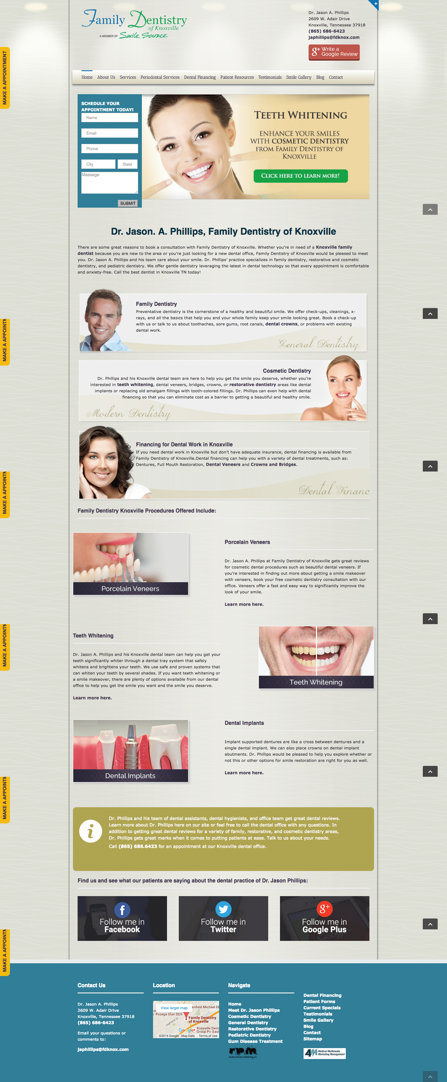 Website Family Dentistry Knoxville
